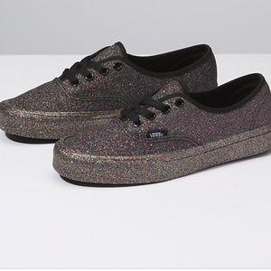 Brand new glitter Vans lace-ups